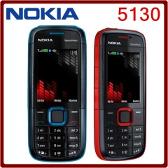 Original Nokia 5130 XpressMusic Russian Keyboard Mobile Phone red on black