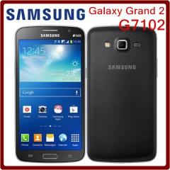 Brand new original Samsung G7102 G7105 Grand 2 GPS 8GB ROM 8MP Quad Core Dual SIM Cards Smartphone G7102 standard black