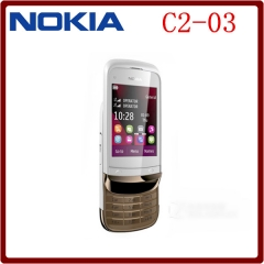 C2-03 Original Unlocked Nokia C2-03 2.6`` 2MP Camera Dual SIM Mp3 Player Refurbished Mobile Phone white