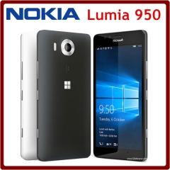 Nokia Lumia 950 Unlocked 5.2 Inch 32GB ROM 3GB RAM 20.0MP Hexa Core LTE Windows Mobile NFC FDD black