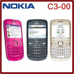 C3 Original Nokia C3-00 WIFI 2MP Bluetooth Jave Unlock Cell Phone one year warranty blue