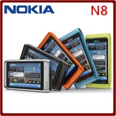 "Original N8 Nokia Mobile Phone 3.5"" Capacitive Touch screen Camera 12MP 3G Unlocked N8 Cellphone black"