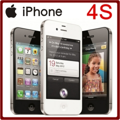 new iPhone 4S Unlocked 3.5 Inches 8/16/32/64GB ROM GSM 8MP Camera WIFI GPS IOS Mobile Phone 16GB standard black