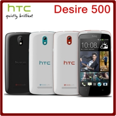 Original Unlocked HTC Desire 500 8MP 1800mAh 4.3Inch 4GB ROM 1GB RAM Touchscreen Mobile Phone white