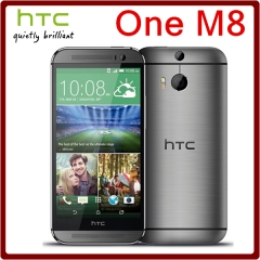 Original Unlocked HTC One M8 5MP 2600mAh LTE 4G 32GB ROM 2GB RAM Quad Core 5.0 3Camera M8 16GB EU grey