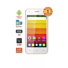 "X-TIGI V2 Smartphone-4.0"" WVGA , Dual SIM, 2MP+5MP Dual Flash Camera, 512MB RAM+8GB Storage, 2600mAh Gold"