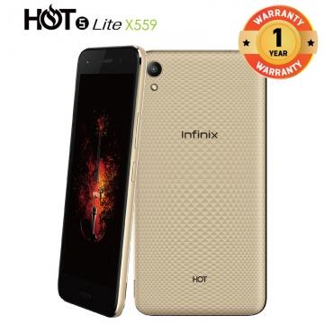 INFINIX HOT 5 Lite X559, 5.5 In 16+1GB, 8+5MP, Dual Speaker 3D Stereo Surrounding 4000mAH SmartPhone Gold