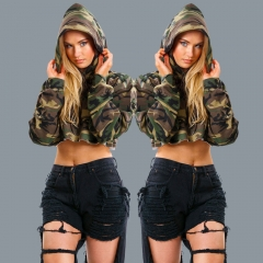 Fashion Sport Clothes Spring Autumn Women Tops Full Sleeve Camouflage Print Thicken Sweatshirts Camouflage s