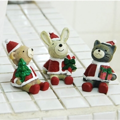 Creative cartoon resin crafts look at the sky animal Christmas home decorations ornaments Little bear One size