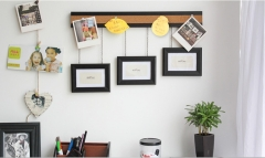 Creative multi-functional wall-mounted Siamese photo frame wall combination of wood photo frame as the picture one size