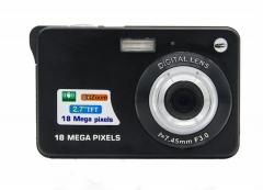 MUETY 18 million pixels home digital camera children macro camera gift card camera black one size