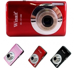 """5x Optical Zoom 15MP Mini Camera DC-V100 2.7"""" DVR With Face&Smile Detection"""