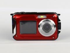 "24MP Shooting Underwater Camera 2.7""+1.8"" Dual Screen Mini Video Recorder DVR"