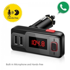 Bluetooth FM Wireless Modulator Radio Adapter Hands-free Car Charger MP3 Player with LED Display black one