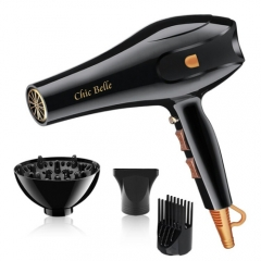 Hair Dryer Of 2500W High Quality Fashion Design Professional Salon Ionic Technology Black As picture black as picture