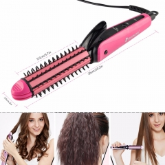 3 in 1 hair sticks corn clip hair straightener hair comb roll Corn Waver white 27.5cm*7cm*4cm