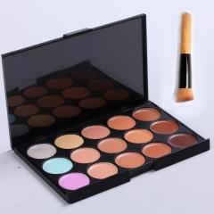 15 Colors Concealer Contour Palette Women Contouring Makeup Care Cream Palette as picture