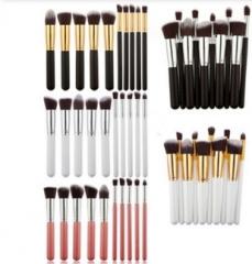 10 Pcs Makeup Brushes Professional Soft Cosmetics Make Up Brush Set Kabuki Brush  Makeup Brushes pink