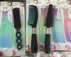 3 Pcs Hair Dressing Comb Suit Set Salon Hairdressing Curl Barber as picture AS PICTURE