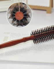 Hair Brush Comb Wood Handle Pig Mane Bristle Anti Static HairbrushSalon Hair Styling Tools as picture as picture
