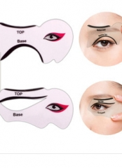 Smoke Eyeshadow Cat Eye Fish Tail Double Wing EyelinerStencil Models Template Shaper as picture