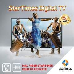 StarTimes 32 Inch HD Digital Pay TV with One Month Free DTH Super and DTT Unique Bouquet black 32-inch