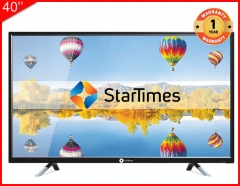 Startimes 40-inch T2+S2 Digital Pay TV One Month Free DTH Super and DTT Unique Bouquet BLACK 40-inch black 40-inch