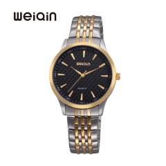 WEIQIN Watch Luxury Men's Quartz Watches,Stylish Waterproof Wristwatch Black
