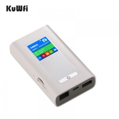 LTE 4G Wireless Router Dongle Mifi With Two SIM Card Slot RJ45 Port Modem Unlock 5200mAh Power Bank