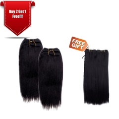 GREAT BEAUTY STW HUMAN HAIR 10 INCH COLOR 1B#(RED PACKING CARD)