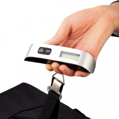 Silver Portable Hanging Scale with Hook Strap Electronic Digital luggage Weighing Scale New silver normal