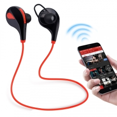 Bluetooth 4.1 Wireless Earphones Sports Headset For Running Stereo Music Earphone for Mobile Phone Red