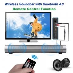 Remote Control Function Wireless Bluetooth Speaker Portable Soundbar Super Bass Stereo Speaker black bluetooth speaker