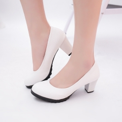Spring and summer shallow round mouth shallow shoes black 38