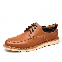 Autumn new men 's formal business casual shoes trend casual shoes increased leather men' s shoes brown 38