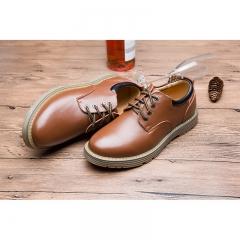 2017 Fall new men 's bulk tooling shoes fashion leather men' s shoes plus velvet shoes casual men brown 38