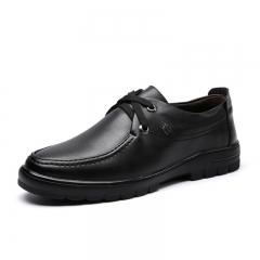 Men 's casual shoes, simple business men 's low - end low men' s shoes black 38
