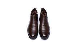 Winter men 's velvet shoes are business casual cotton boots fashion British men' s warm winter shoes brown 38