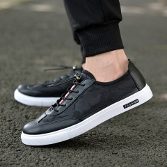 Summer men 's canvas shoes low men' s sports shoes casual slippers with small white shoes black 39