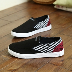 Spring and summer new men 's casual shoes low - foot slippers canvas shoes fashionable lazy shoes black 39