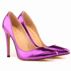 Pointed super fine with the increase in the classic single shoes with the explosion of stars purple 36