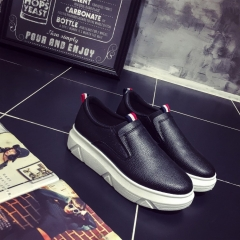 Korean version of the new fashion atmosphere to help small white shoes black 35