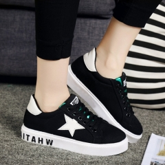 White shoes female canvas shoes white shoes student shoes Korean version black 35