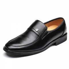Low-heeled sets of soft dough business men's shoes in the elderly dad shoes black 38
