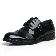 Leather leather leather shoes British single shoes pointed light skin men's shoes Noble black 38
