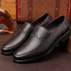 Men's leather shoes soft leather business shoes shoes feet footwear brown 37