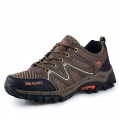 Leisure hiking shoes couple sports outdoor shoes net cross - country running shoes brown 39