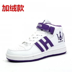 British fashion shoes men and women couples high ventilation breathable casual shoes Plus velvet purple 36
