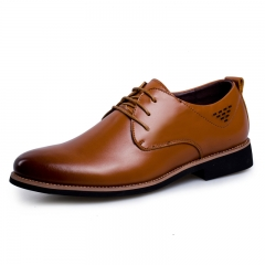 New Fashion Design Genuine Leather Shoes Men Brown Dress Shoes Casual Oxfords Shoes Size 38-44 brown 38
