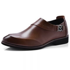 Men's Shoes Fashion Oxfords Business Shoes Casual Design Pointed Toe Dress Shoe brown 43